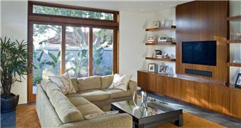 休闲自然美式100平二居室客厅电视背景墙装修效果图
