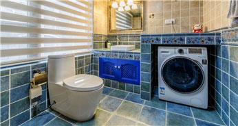 优雅贵气新古典100平三居室卫生间浴室柜装修效果图