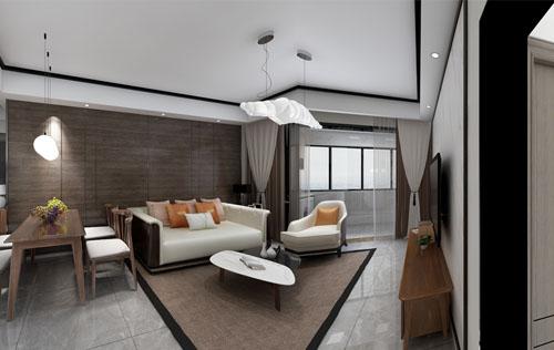中海运河丹堤二期88平(新中式) 设计师:徐浩明