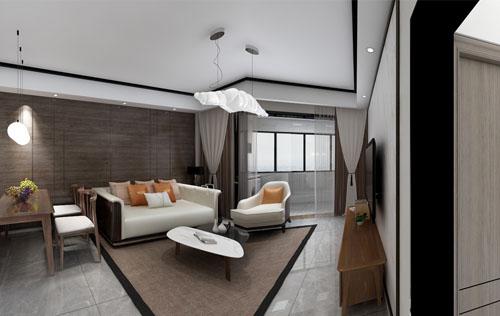中海运河丹堤二期88平(新中式) 设计师:王雨