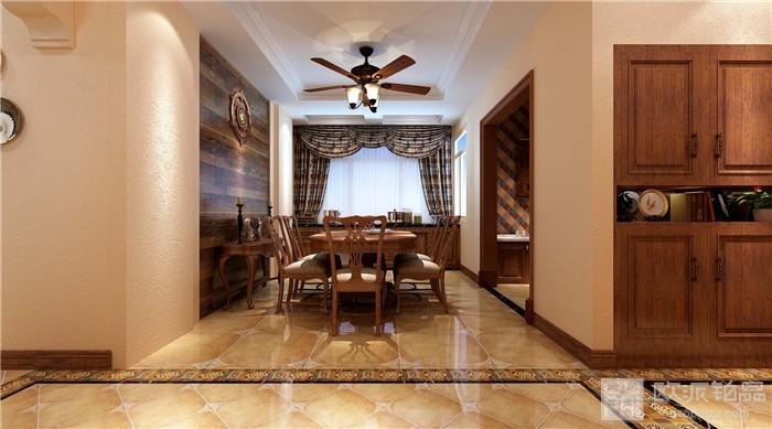 温暖朴实美式100平二居室装修效果图