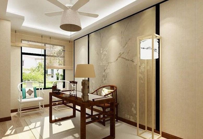温馨雅致新中式90平二居室装修效果图