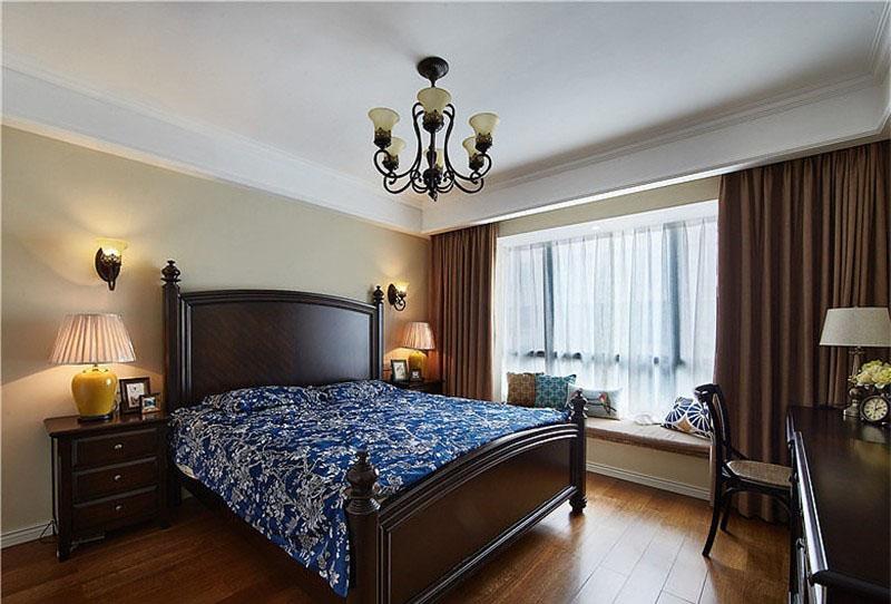 自然舒适美式100平二居室卧室装修效果图