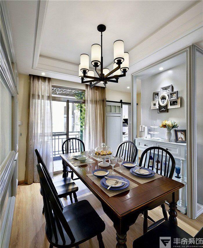休闲美式100平二居室客厅装修效果图