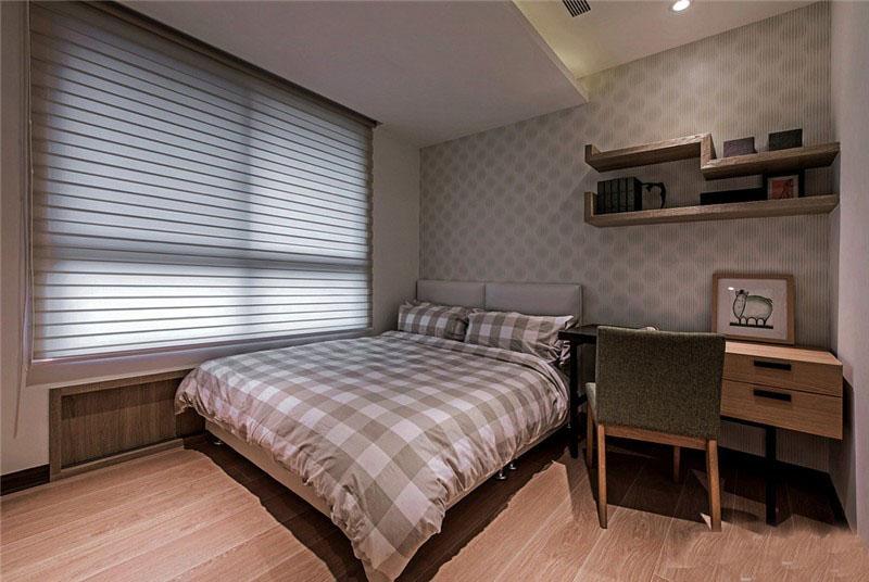 闲适现代简约90平三居室客厅装修效果图