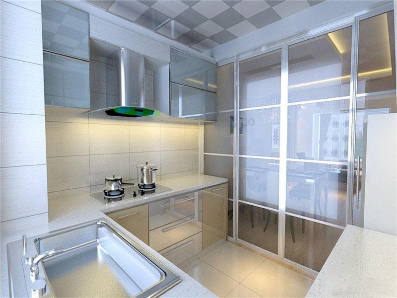温馨明亮现代80平二居室客厅背景墙装修效果图