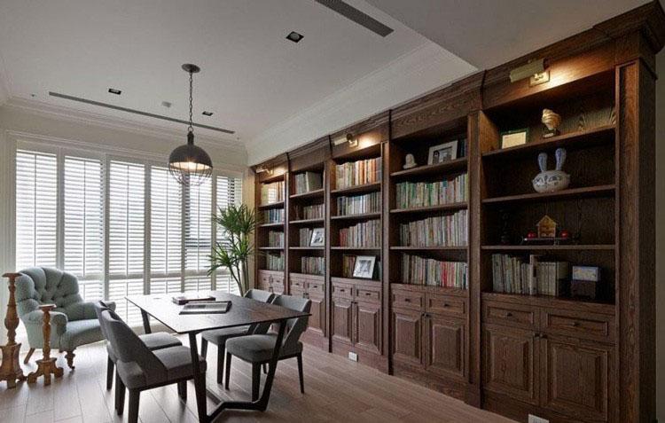 轻快美式乡村风格70平米三居室书房壁橱装修效果图