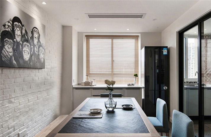 活泼精简的现代简约风格60平一居室洁白厨房橱柜装修效果