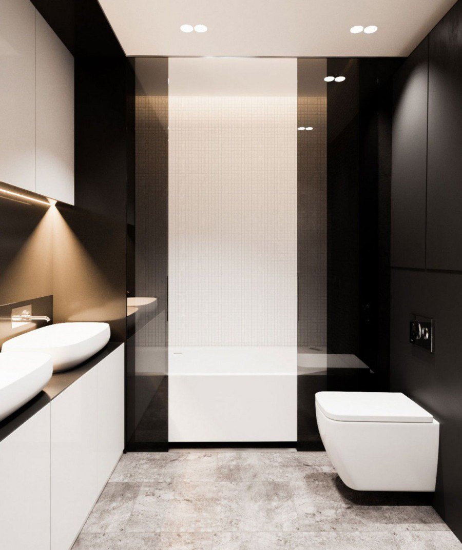 硬朗成熟的现代简约60平米一居室卫生间装修效果图