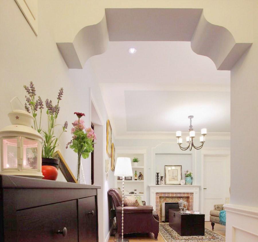 富有韵味美式风格90平米二居室玄关过道装修效果图