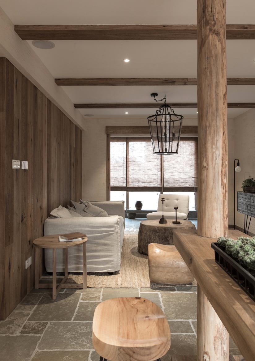 日式风格85平两室一厅客厅装修效果图