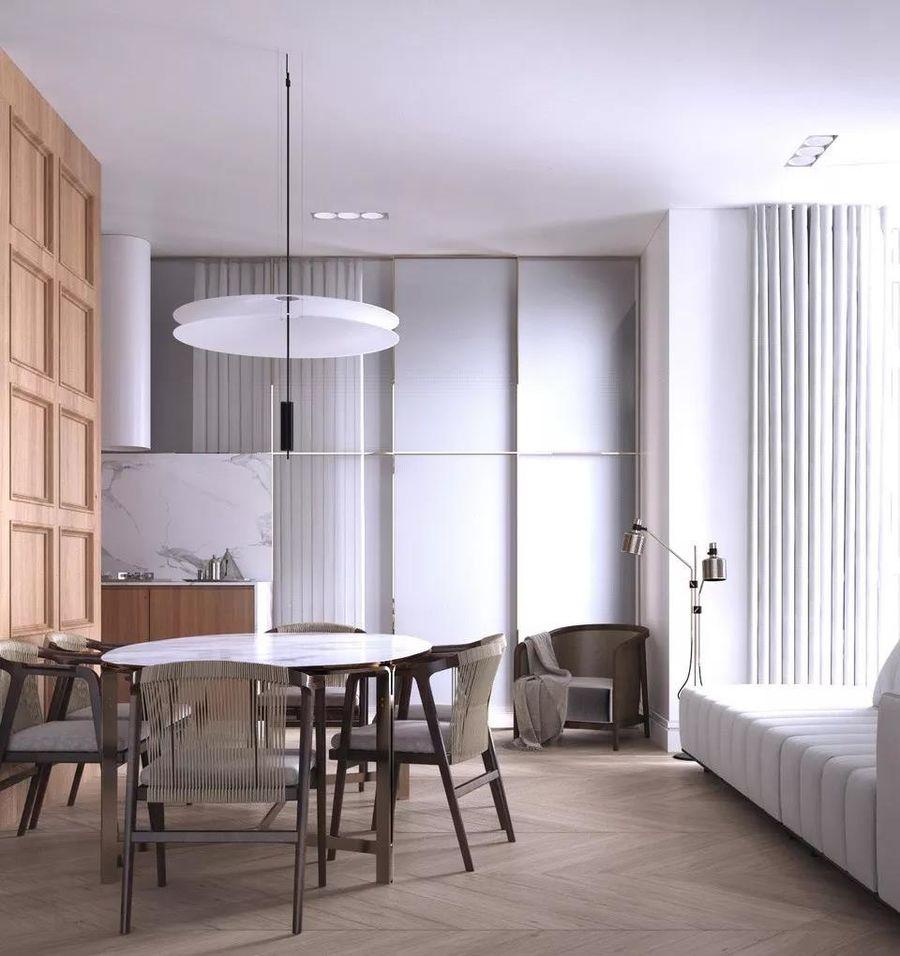 现代轻奢120平两室一厅装修效果图