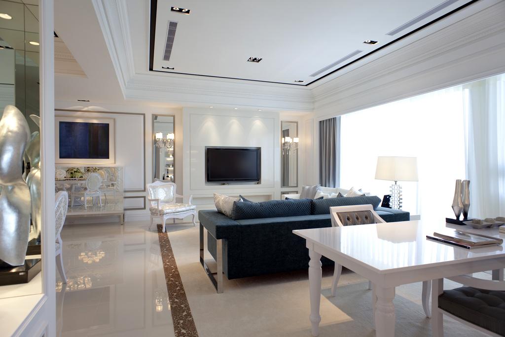 欧式风格118平两室一厅客厅装修效果图