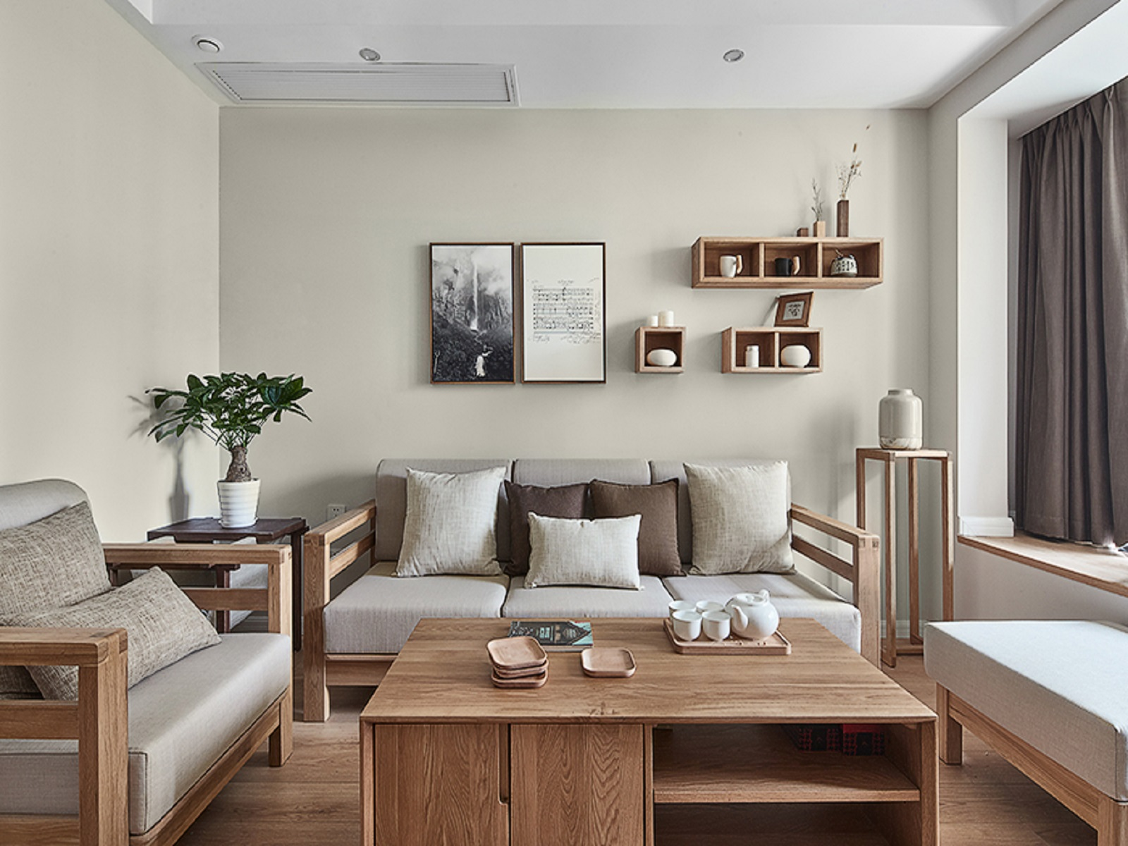 日式风格89平两室一厅装修效果图