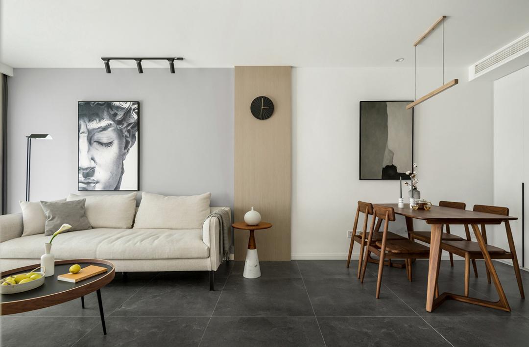 现代文艺风88平两室一厅装修效果图