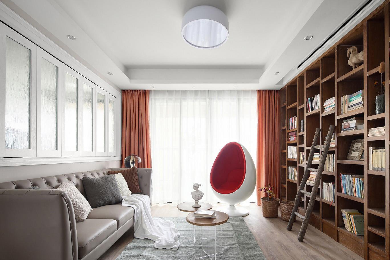 个性现代风128平两室一厅装修效果图