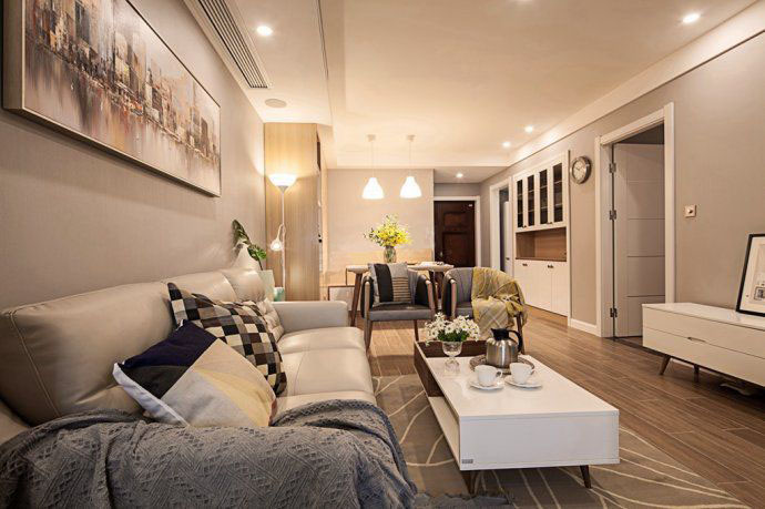 现代简约68平两室一厅装修效果图